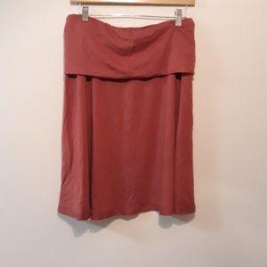 Anthropologie Roll Waist Skirt Rouge Medium New